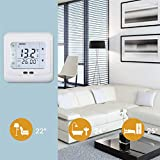 m·kvfa LCD Display Thermostat Room Thermostat Screen Thinner Sleeker Design Automatically Start and Stop the Controlled Object