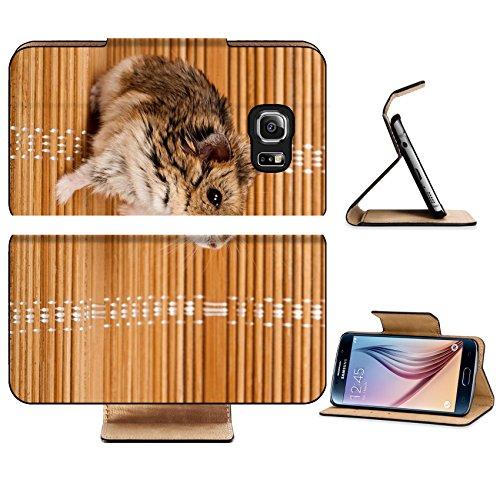 Dwarf Zebra (Luxlady Premium Samsung Galaxy S6 Edge Flip Pu Leather Wallet Case IMAGE ID 6479322 Winter White Russian Dwarf Hamster)