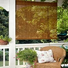 Imperial Decorative 39x63 Bamboo Roll Up Shade, Fruitwood