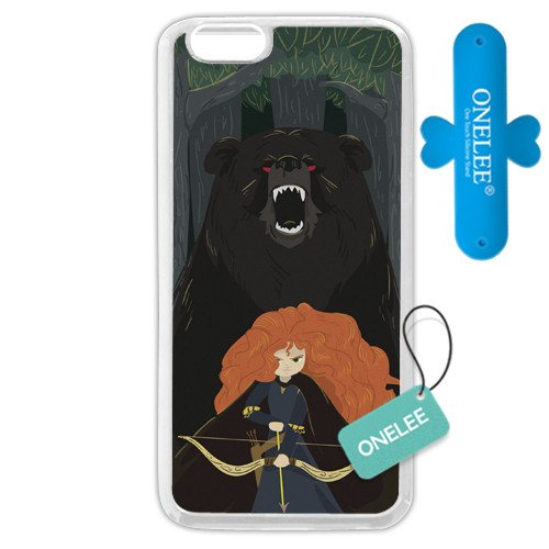 """Customized White Soft Rubber(TPU) Disney Brave Princess Merida iPhone 6 Plus Case, Only fit iPhone 6+ 5.5"""""""