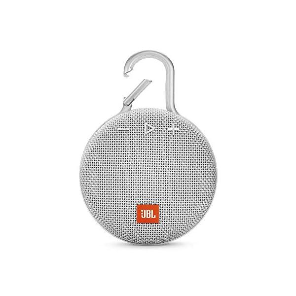 JBL Clip 3 - enceinte Bluetooth Portable avec Mousqueton - Étanchéité Ipx7 - Autonomie 10hrs - Qualité Audio JBL - Blanc 1