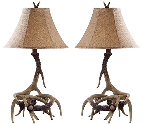 Safavieh Lighting Collection Sundance Antler Table Lamp, Set of 2, ()