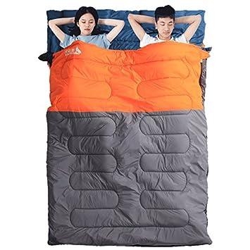 SUHAGN Saco de dormir Dobles Parejas Gruesas Bolsas De Dormir Camping Exterior Cálida Piscina Adulto Caen Durante El Invierno Cada Sucia Bolsa De Dormir.
