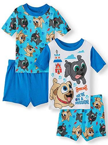 (Puppy Dog Pals Little Boys' Toddler Four-Piece Pajama Set (4T) Blue/Multi)