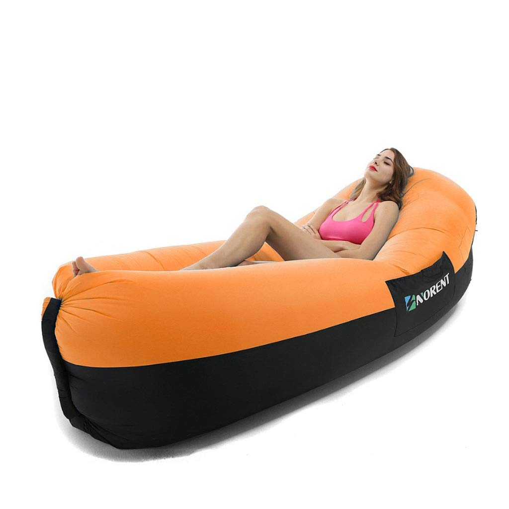 Inflatable Lounger Air Sofa Hammock Portable Waterproof Anti-Air Leaking Inflatable Pouch Couch with Pillow and Carrying Bag for Outdoor Camping, Picnics, Pool, Travel, Hiking, Beach by Chenguojian
