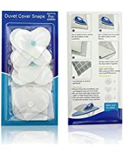HX AURIZE 16 Pcs/Lightweight Duvet Cover Snaps Fasteners Comforter Holder Clips Keep The Corner Safe in Place (White)