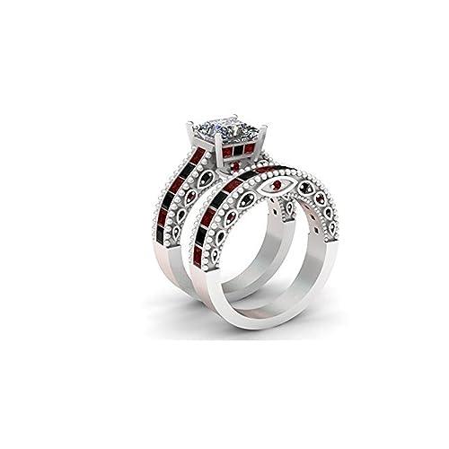 Doctor Who inspirado en anillos de compromiso, boda en blanco de 3,50 quilates