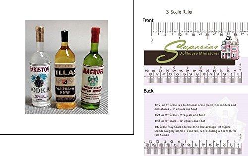 Dollhouse Miniature Liquor Set No2-vodka Scotch (Superior Rum)