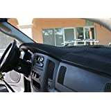 BLACK Carpet Dashboard Cover- 2002-2005 Dodge Ram 1500, 2003 - 2005 2500 - 3500. Custom Fit Dash Cover, Easy Installation.