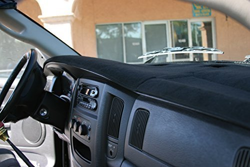 BLACK Carpet Dashboard Cover- 2002-2005 Dodge Ram 1500, 2003 - 2005 2500 - 3500. Custom Fit Dash Cover, Easy Installation.