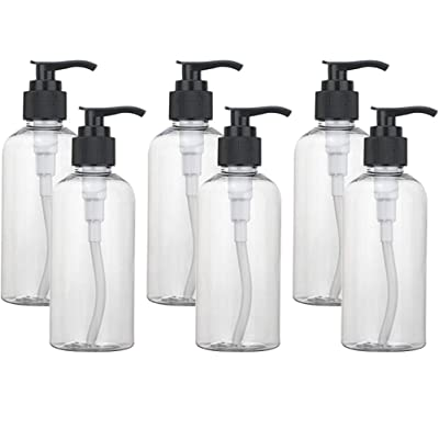 Empty Plastic Bottles with Lotion Pump Dispenser BPA-Free Refillable Containers for Shampoo, Lotion, Liquid Soap, Lotion with a Clean, Clear Look, Leak-proof, 6 Pcs, 100ML: Toys & Games