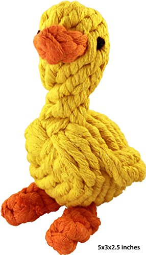 Crafty Cortez Fun Rope Toy for Dogs - Duck shape - Playing, Chewing and Teeth Cleaning (Rope Playing)