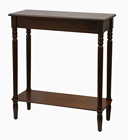 Amazon Com Slim Console Table Narrow Entryway Hall Long Wood Shelf