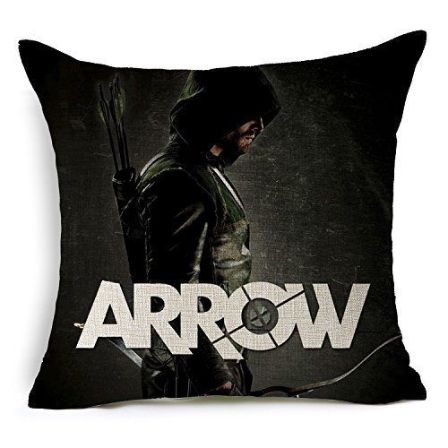 E-gift Cotton Linen Decorative Throw Pillow Case Cushion Cover Arrow Oliver Queen 18
