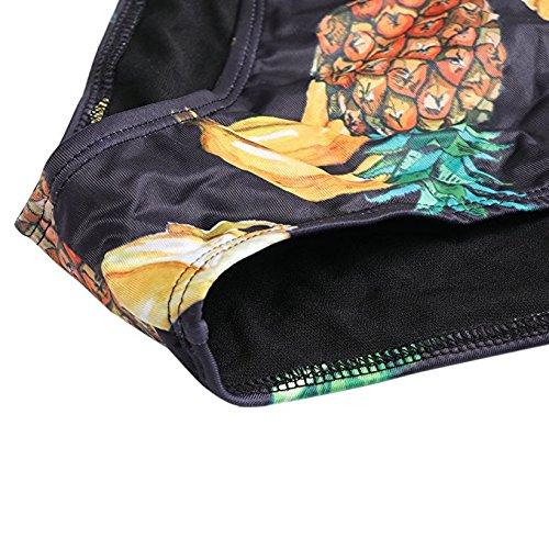 TUONROAD Bikini mit Muster,Ananas-Druck Sexy Bademode Push up Bikinis,Zweiteiler Strand Swimwear Swimsuits Beachwear