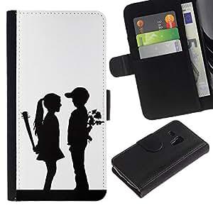 All Phone Most Case / Oferta Especial Cáscara Funda de cuero Monedero Cubierta de proteccion Caso / Wallet Case for Samsung Galaxy S3 MINI 8190 // Funny Couples Surprise