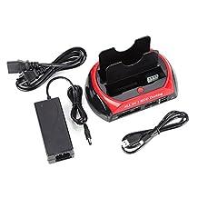 "2.5""/3.5"" Hard Disc Base Dual SATA IDE HDD Docking Station Multi-function USB 2.0 Hub"