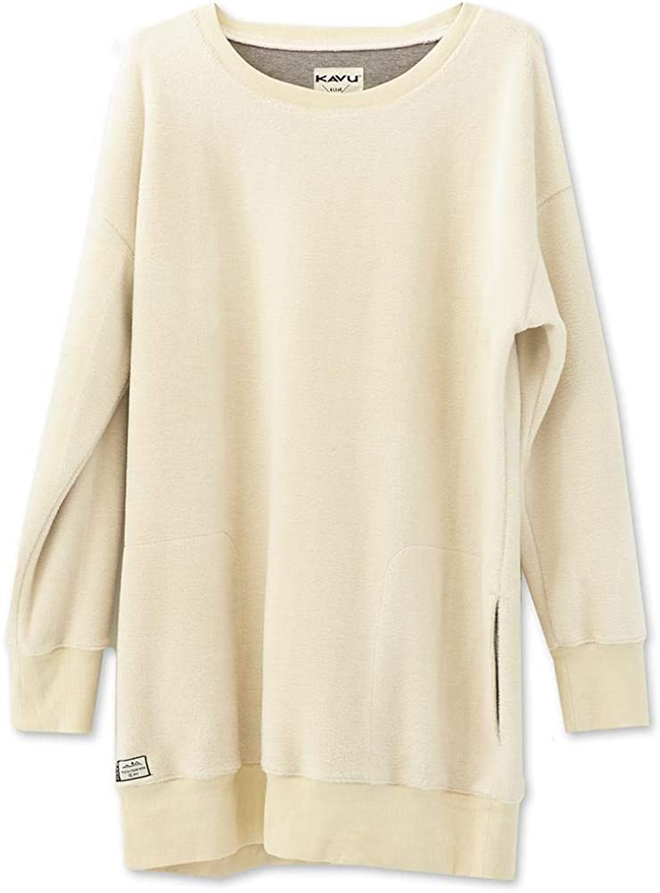 KAVU Riverton Long Sweatshirt - Mid Thigh Oversized Crew Neck Sweater