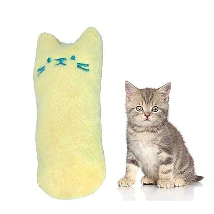 Auoker Juguete de Peluche para Gatos Masticar y Limpiar los Dientes de los Gatos, Juguetes para Perros y Gatos, Juguetes creativos, Juguetes para ...