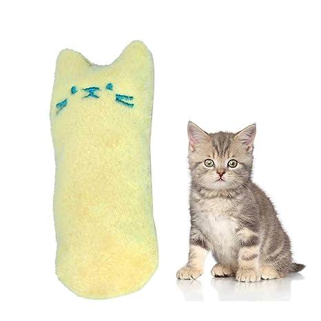 Auoker Juguete de Peluche para Gatos Masticar y Limpiar los Dientes de los Gatos, Juguetes
