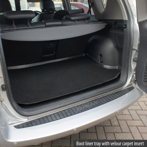 Fully Tailored PVC Boot Liner//Mat//Tray carmats4u To fit Clio IV 2012 Black Carpet Insert