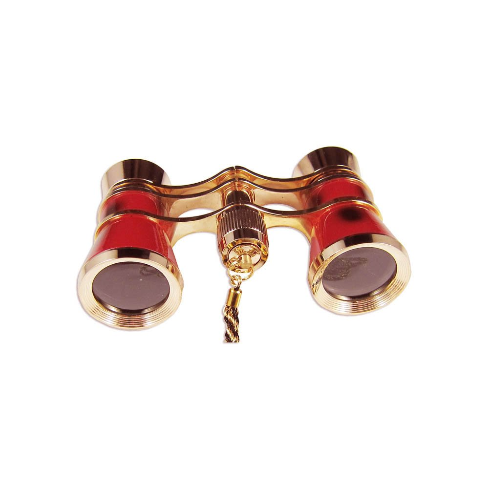 Kaxidy Exquisite Theater/opera 3x25 Glasses Coated Binocular Telescope Red and Gold Trim