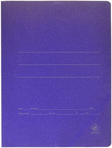 color azul Mariola 944817 Carpeta de cart/ón folio