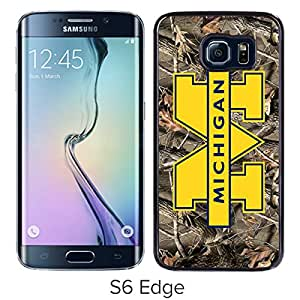 Lovely And Unique Designed Case With Ncaa Big Ten Conference Football Michigan Wolverines 11 Black For Samsung Galaxy S6 Edge Phone Case