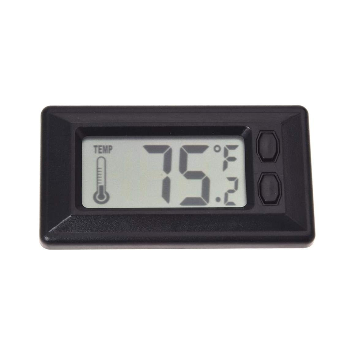 DeoMeat Term/ómetro para autom/óvil Term/ómetro Digital de Temperatura Interior Pantalla LCD