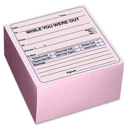 Wholesale CASE of 25 - Rediform Self-Stick WYWO Cube-Message Cube, Self Adhesive, 512 Sheets/Cube, 4''x4'', Pink by Red