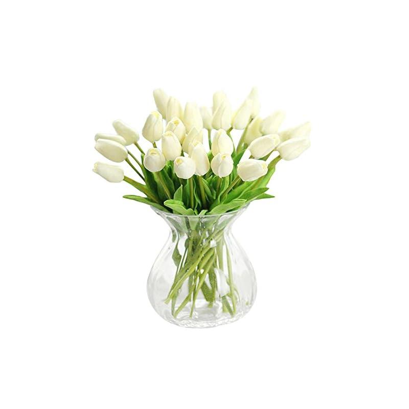 silk flower arrangements xhsp 30 pcs real-touch artificial tulip flowers home wedding party decor