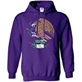 Threadrock Women's Mexican Eagle Hoodie Sweatshirt M Purple