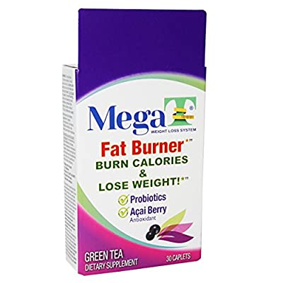 Mega-T GREEN TEA 30 Ct. Dietary Supplement Brazilian Acai Berry HELPS BURN FAT