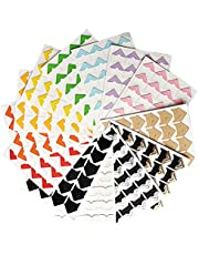 SUMAJU 13 Sheeets Photo Mounting Corners,312 Pieces Self Adhesive Paper Picture Sticker for Scrapbooking Album Dairy (13 colors)