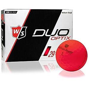 Wilson Staff Duo Optix Matte Red Golf Balls