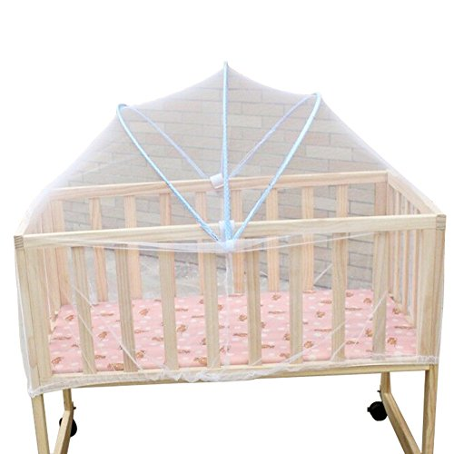 Funbase Baby Pack N Play Mosquito Net Rattan Support Bed Tent Kid Insect Mesh Cover W/Hook(90x50cm)