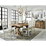 Signature Design by Ashley Dining Room Table, Grindleburg, White/Light Brown