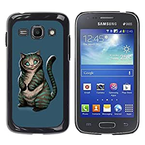 Planetar® ( Evil Cat ) Samsung Galaxy Ace 3 III / GT-S7270 / GT-S7275 / GT-S7272 Fundas Cover Cubre Hard Case Cover