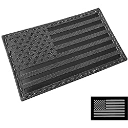 Big 3x5 IR Blackout USA American Flag IRR Infrared IFF Tactical Morale Hook&Loop Patch