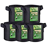 pot cooler - VIVOSUN 5-Pack 2 Gallon Grow Bags Heavy Duty Thickened Nonwoven Fabric Pots with Handles