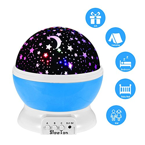 Starry Night Light Lamp,SlowTon Romantic 3 Modes Colorful