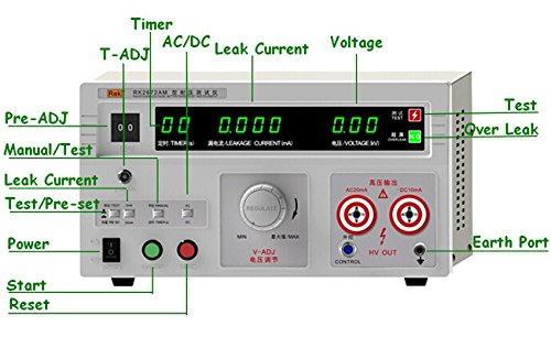 220V Input Power RK2672AM Withstand Hi-pot AC/DC 0-5KV AC20mA DC10mA 100VA Tester by Voltage Testers
