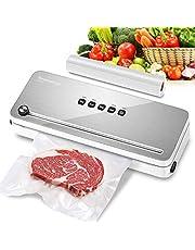 Bonsenkitchen Vacuüm Sealer Keuken Apparaat - Vacumeermachine en Vacuümslang - 4 Standen - Machine Geschikt voor Groente/Vlees/Vis/Wijn Pomp/Eten/Sous Vide etc.