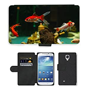 Super Stella Cell Phone Card Slot PU Leather Wallet Case // M00107306 Fish Goldfish Freshwater Fish // Samsung Galaxy S4 S IV SIV i9500