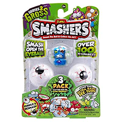Zuru Smashers Series 2 Gross 3 Pack Assorted: Toys & Games