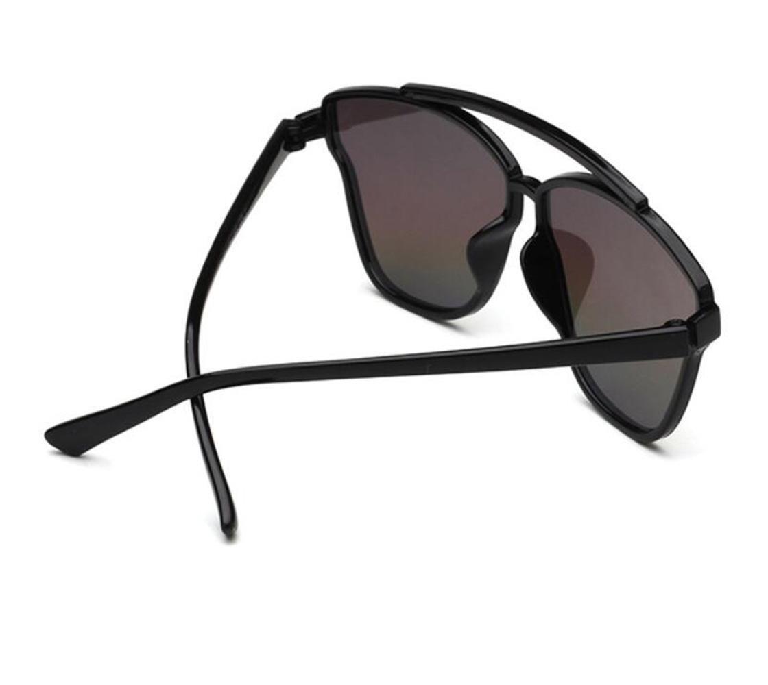 RDJM Occhiali da sole per Donna e uomo, Occhiali da sole con montatura speculare Cat Eye Occhiali da sole con montatura in plastica UV400, B