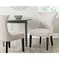 Safavieh Mercer Collection Ciara Side Chair, Taupe, Set of 2