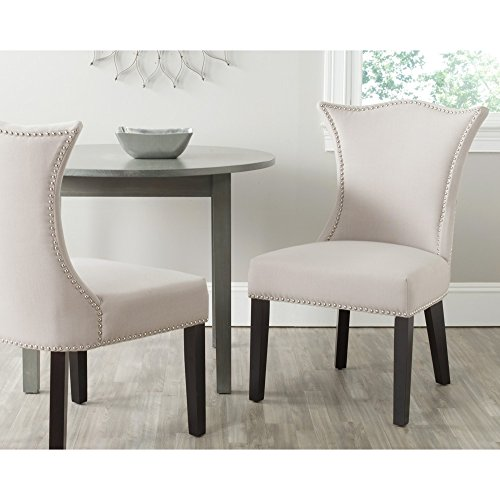 Safavieh Mercer Collection Ciara Side Chair, Taupe, Set of (Ciara Collection)