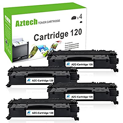 Aztech 4 Pack Replaces Canon 120 (2617B001AA) CRG 120 Toner Cartridge 5,000 Pages High Yield For Canon D1350 D1150 D1320 D1180 Printer