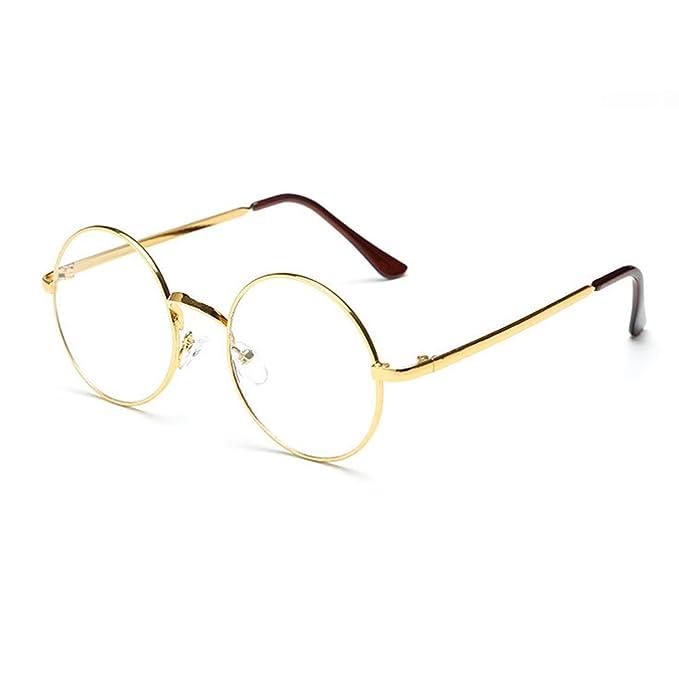 Hipster Korean Retro Round Eyeglasses Metal Frame Preppy Style Gold Fashion Myopia Round Optical Glasses Women Unisex JogJA